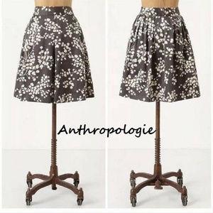 Anthropologie Grey Moulinette Soeurs Inked Skirt